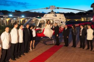Sposi in Elicottero Al Parco Ricevimenti Lecce